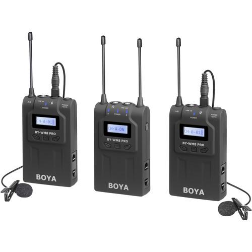 BOYA BY-WM8 Pro-K2 UHF Dual-Channel Wireless Lavalier System (576.4 to 599.9 MHz, 568.6 to 592 MHz)