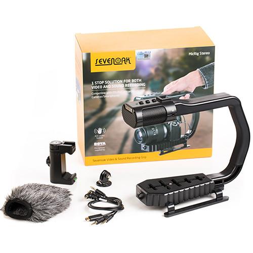 Sevenoak Camera Stabilizer with Built-in Microphone MicRig Stereo