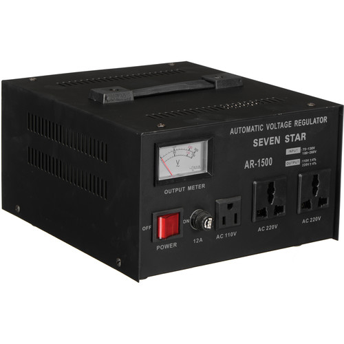 Sevenstar AR-1500 Step Up/Step Down Transformer with Regulator