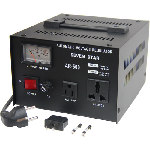 Sevenstar Voltage Regulator with Meter 500 Watts