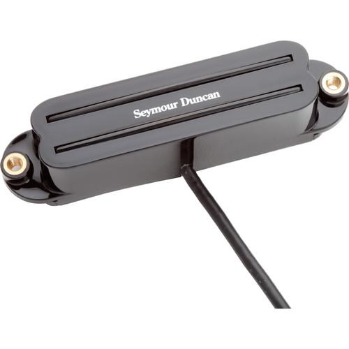 Seymour Duncan SHR-1N Hot Rails Strat Single-Coil Sized Humbucker for Neck (Black)