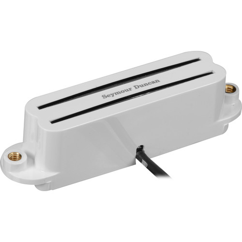 Seymour Duncan SHR-1B Hot Rails Strat Single-Coil Sized Humbucker for Bridge (White)