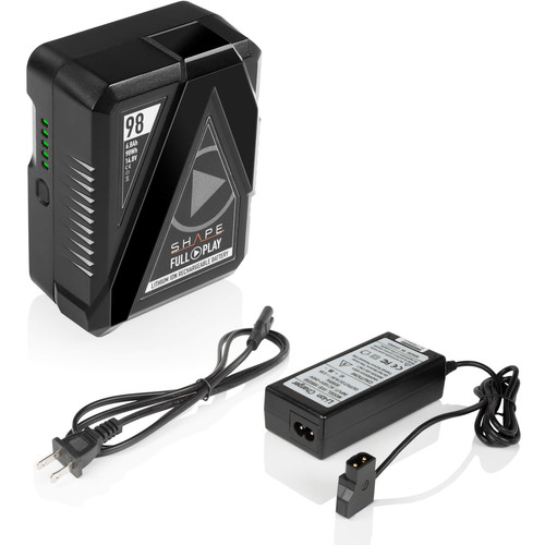 SHAPE Full Play V-Mount Battery Kit with Portable D-Tap Charger