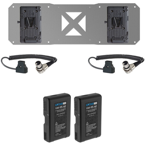 SHAPE 2-Battery, Plate & D-Tap Cable Kit for Atomos Sumo (V-Mount)