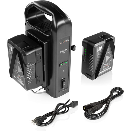 SHAPE Full Play 2 Battery Kit with 2-Bay Vertical Charger (V-Mount)