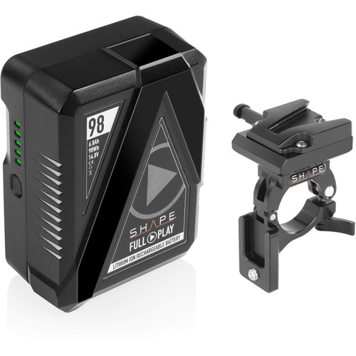 SHAPE Full Play 98Wh V-Mount Battery with Clamp for 30mm Gimbal Handlebar
