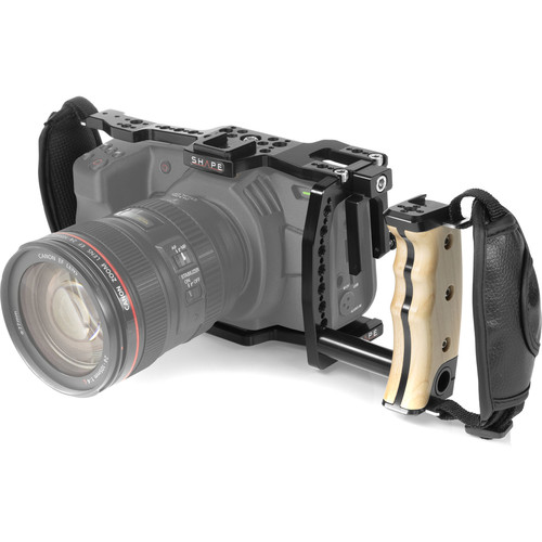 SHAPE Handheld Cage with Left-Side Wooden Handle for BMPCC 6K and 4K