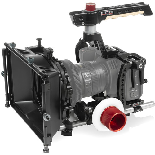 """SHAPE Cage Kit with Matte Box, Follow Focus & 10"""" 15mm Rods for BMPCC 6K & 4K"""