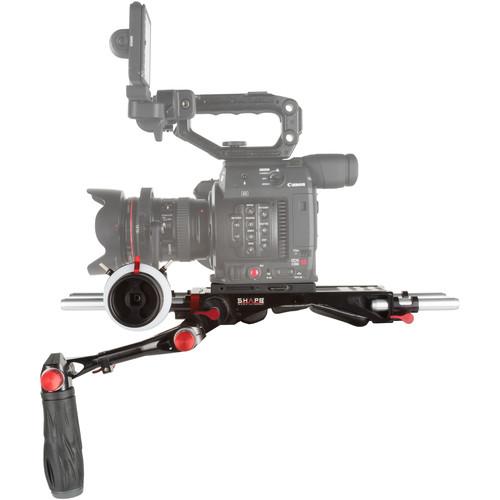 SHAPE Shoulder Rig Bundle with Follow Focus Pro for Canon EOS C200