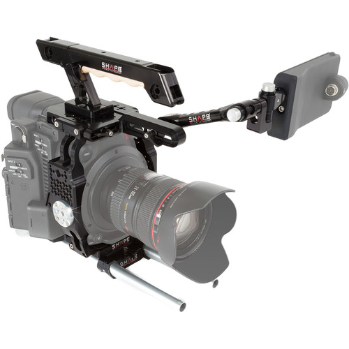 SHAPE Camera Cage with EVF Mount, Top Handle & Baseplate for Canon C200