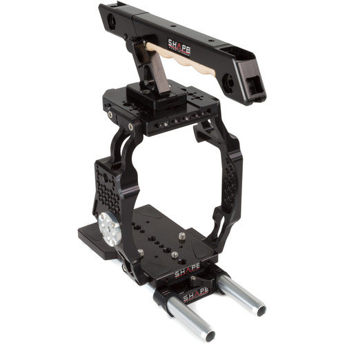 SHAPE Cage with Baseplate, Top Handle & 15mm LWS Rods for Canon EOS C200