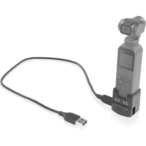 """SHAPE Charging Port and 1/4""""-20 Mount Adapter for Osmo Pocket"""