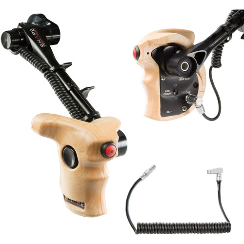 SHAPE Stop & Start Handle Grip with Telescopic Wood ARRI Rosette for ARRI Camera