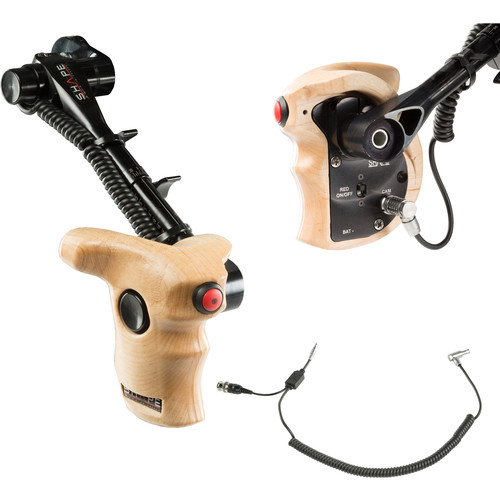 SHAPE Stop & Start Handle Grip with Telescopic Wood ARRI Rosette for RED Camera