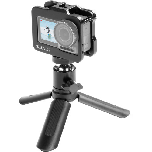 SHAPE Cage with Selfie Grip Tripod for DJI Osmo Action Camera