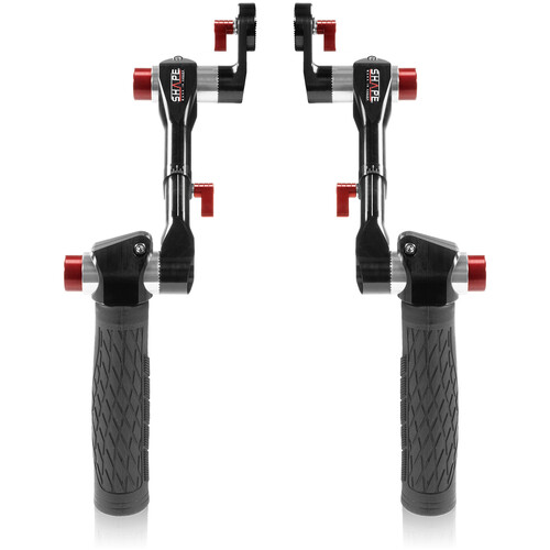 SHAPE Telescopic Handles with ARRI Rosettes (Black & Red)