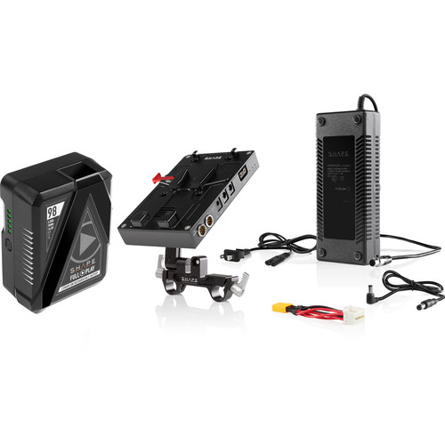 SHAPE D-Box Camera Power & Charger Kit with 98Wh Battery for Blackmagic URSA Mini/Mini Pro