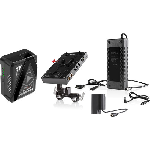 SHAPE D-Box Camera Power & Charger Kit with 98Wh Battery for Panasonic GH4/GH5 Series