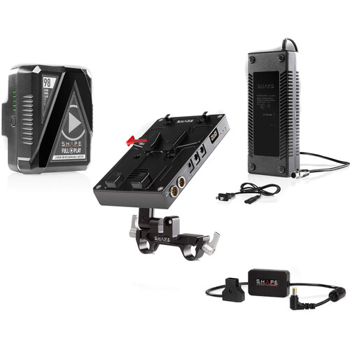 SHAPE D-Box Camera Power & Charger Kit with 98Wh Battery for EVA1/FS7/FS7M2/FS5/FS5M2