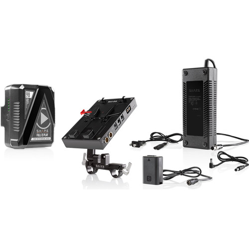 SHAPE D-Box Camera Power & Charger Kit with 98Wh Battery for Sony a7 Series