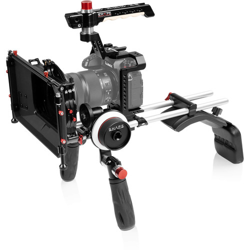 SHAPE Shoulder Mount with Matte Box and Follow Focus Kit for Panasonic Lumix S1/S1R