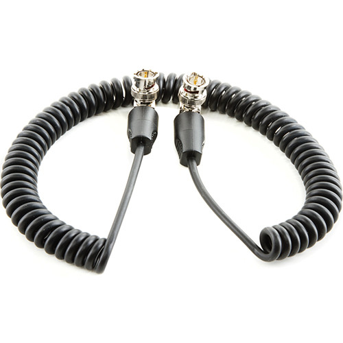 """SHAPE Coiled SDI Cable with Right Angle Connectors (20"""")"""