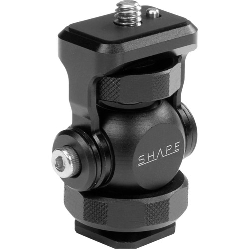"SHAPE Friction Swivel and Tilt Mount with Shoe Adapter to 1/4""-20 Screw"