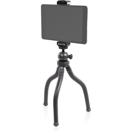 SHAPE Tablet Aluminum Mount and Tripod Flexible Grip with Ball Head