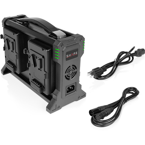SHAPE FULL PLAY Intelligent 4-Bay V-Mount Battery Charger