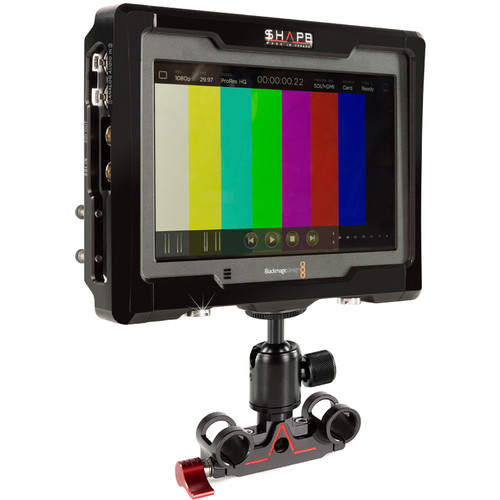 SHAPE Kit of Cage & 15mm Rod Bloc with Ball Head for Blackmagic Design Video Assist Monitor