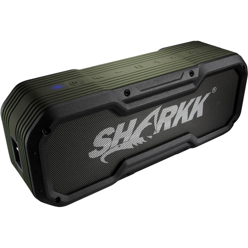SHARKK Commando Water-Resistant Portable Bluetooth Speaker
