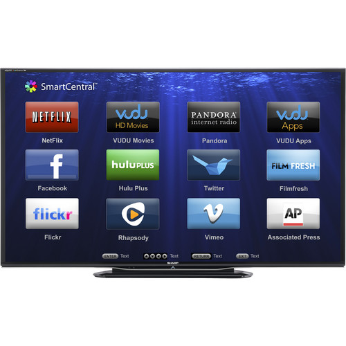 "Sharp 80"" LC-80LE757U AQUOS Full HD Smart LED 3D TV"