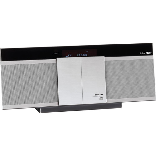 Sharp DK-KP95P Slim Micro System with Docking Slot and AirPlay (Black/Silver)