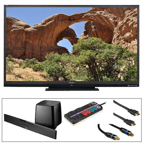 "Sharp LC-60LE640U AQUOS 60"" 1080p LED Smart TV Advanced Kit"