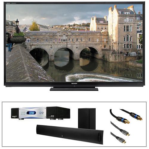 "Sharp LC-70LE847U 70"" AQUOS Quattron LED Smart 3D TV Advanced Kit"