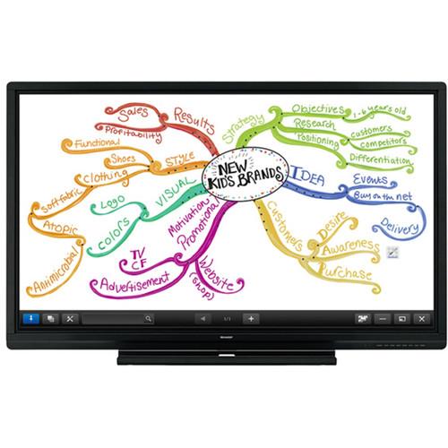 "Sharp AQUOS BOARD PN-C805B 80"" Interactive Display System"