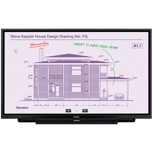 """Sharp 65"""" Aquos Board 4K Ultra-HD Interactive Display System with 20-Point InGlassTM Multi-Touch Screen"""