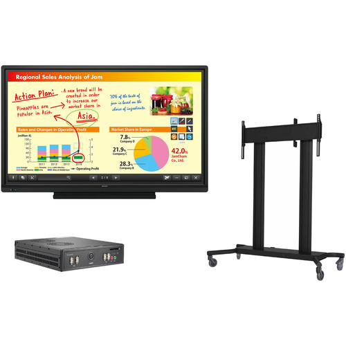"Sharp AQUOS BOARD 70"" Class Interactive Display System with PC & Floor Stand"