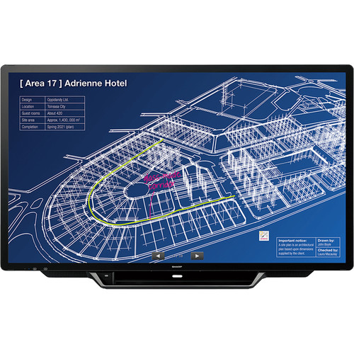 "Sharp PN-L705H 70"" AQUOS BOARD UHD Interactive Display System"