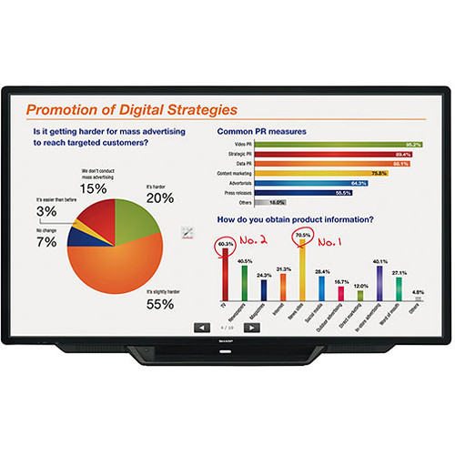 "Sharp AQUOS BOARD PN-L803CA 80""-Class Full HD Commercial Smart Touchscreen LED Display"