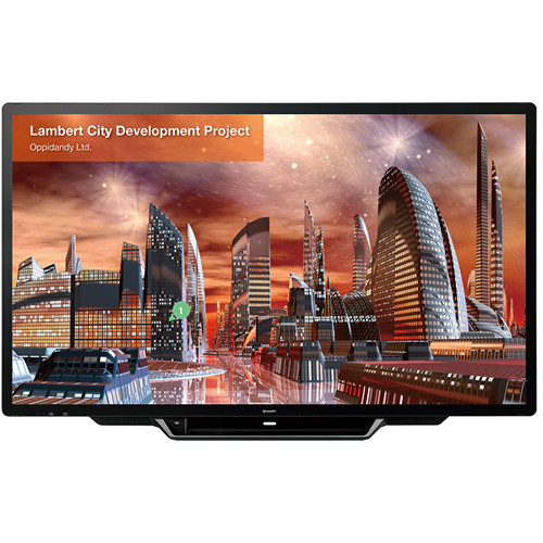 "Sharp 80"" AQUOS Board Interactive Display with 30-Point Multi-Touch Screen and Edge to Edge Glass"