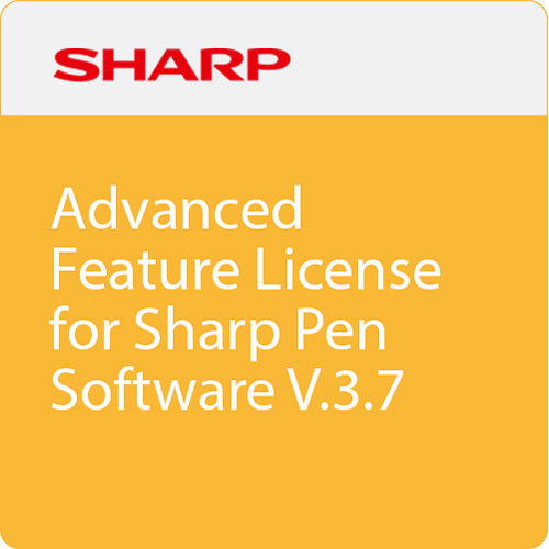 Sharp Advanced Feature License for Sharp Pen Software V3.7 (Download)