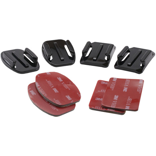 SHILL Two Flat & Two Curved Surface Mounts with 3M Adhesive Pads