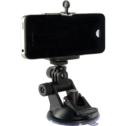SHILL Simple Suction Cup Mount with Smartphone and GoPro Adapters