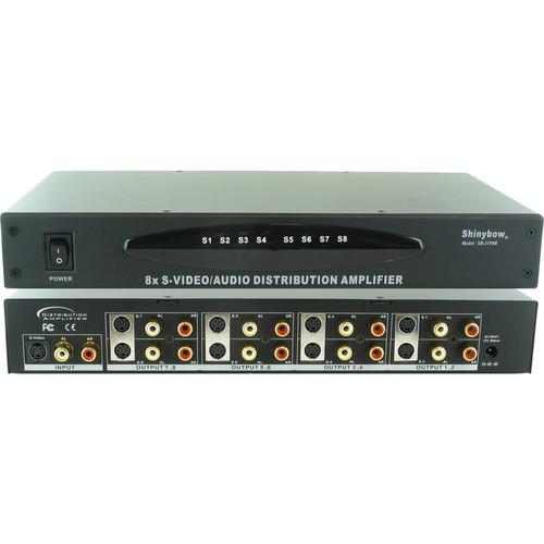 Shinybow SB-3709MRM 1 x 8 S-Video & Audio Distribution Amplifier