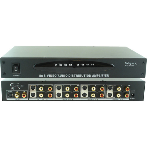 Shinybow SB-3709MRM 1 x 8 S-Video & Audio Distribution Amplifier
