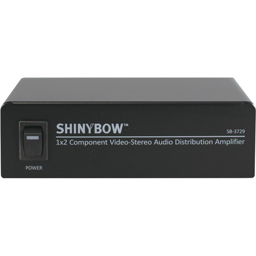 Shinybow SB-3729 1 x 2 Component Video Splitter Distribution Amplifier with Stereo Audio