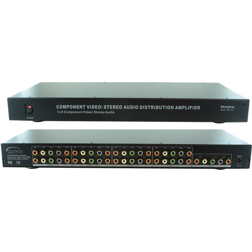 Shinybow SB-3737 1 x 8 Component Video and Audio Distribution Amplifier