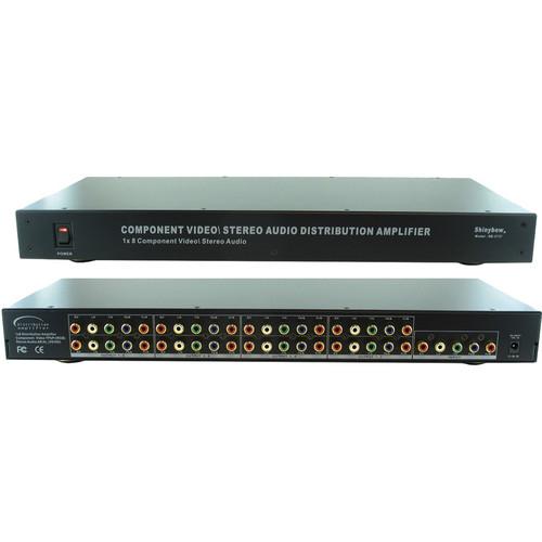Shinybow SB-3737 1 x 8 Component Video-Audio Distribution Amplifier