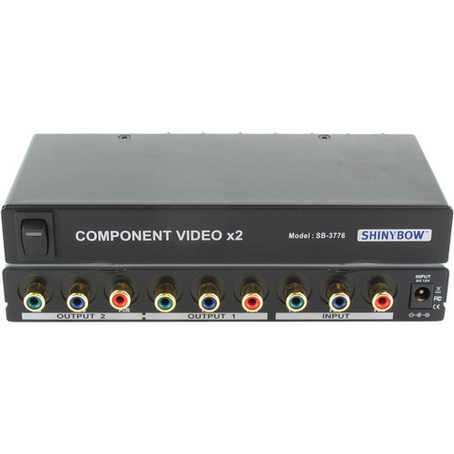 Shinybow SB-3776 1 x 2 Component Video (RCA) Distribution Amplifier